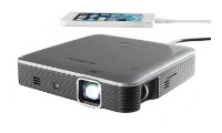 Brookstone Pocket Projector Pro DLP IntelliBright-200 Lumens